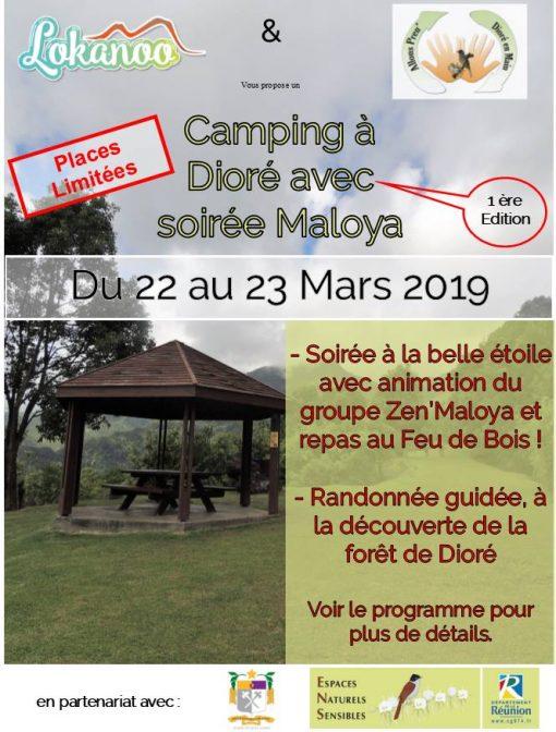 Bivouac dans la forêt de Dioré avec soirée Maloya. Du 22 au 23 Mars 2019